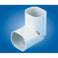 "Mitsubishi NC-100 Line Hide Lineset Cover System 90 Degree Vertical Elbow - 4-3/16"" x 2-15/16"""