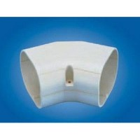 "Mitsubishi NM-140 Line Hide Line Set Cover System 45 Degree Horizontal Elbow - 5-3/4"" x 3-3/8"""