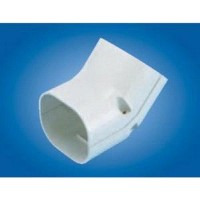 "Mitsubishi NU-100 Line Hide Line Set Cover System 45 Degree Vertical Elbow - 4-3/16"" x 2-15/16"""