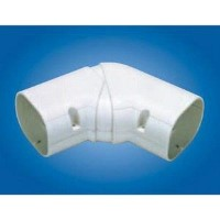 "Mitsubishi NX-75 Line Hide Lineset Cover System Universal 45-90 Degree Adjustable Horizontal Elbow - 3-1/4"" x 2-11/16"""
