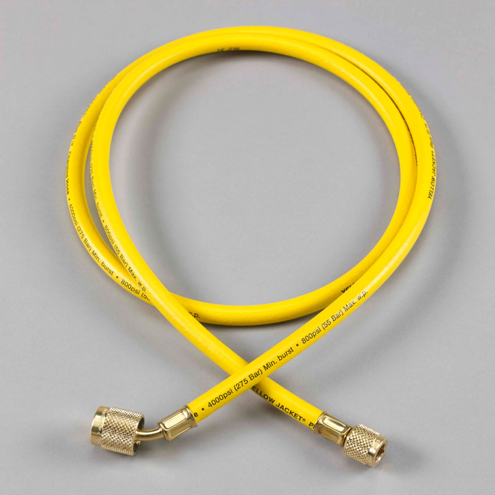 "Yellow Jacket 22060 - Plus II Yellow Hose with SealRight Low Loss Anti-Blow Back Fitting 1/4"" X 5'"