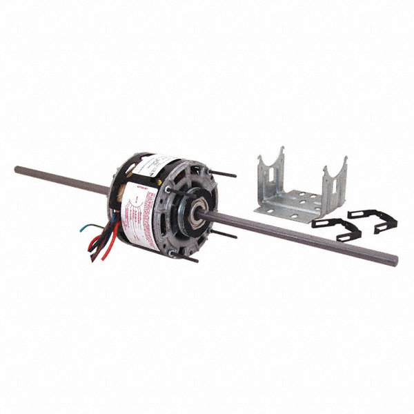 1/8 HP Room Air Conditioner Motor,Permanent Split Capacitor,1075 Nameplate RPM,208-230 Voltage,Frame