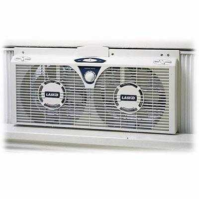 Lasko 2138 8' Lectrically Reversible Twin Window Fan W/ 6 Blades