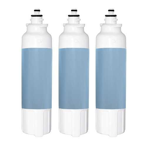 Replacement Water Filter Cartridge for LG Refrigerator LBN10551SW - (3 Pack)