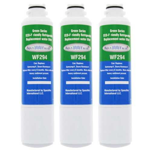AquaFresh Replacement Water Filter for Samsung RS25H5111SR Refrigerator Model (3 Pack)