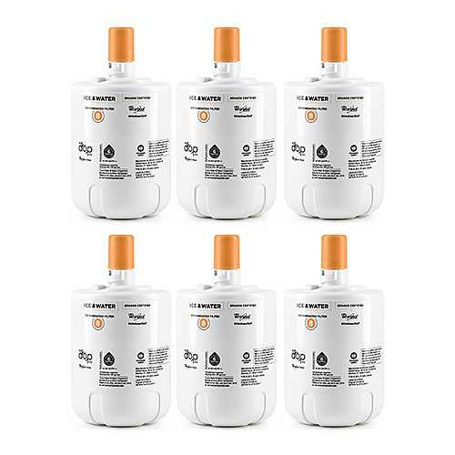 Filter for KitchenAid EDR8D1 / 8171413 (6-Pack) Original Fridge Water Filter