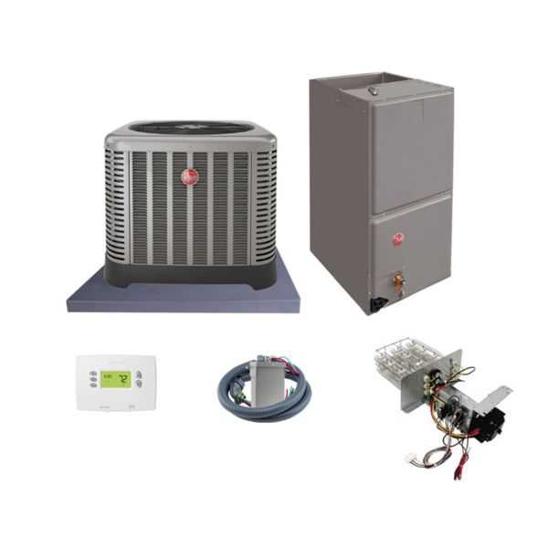 Rheem (AHRI 7491225) 2 1/2 Ton, 14 SEER/11.5 EER Classic Series, Horizontal Air Conditioner Split System and Install Kit
