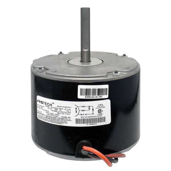 PROTECH 51-100999-02 - Condenser Motor - 1/10 HP 208-230/1/60 (825 rpm/1 speed)