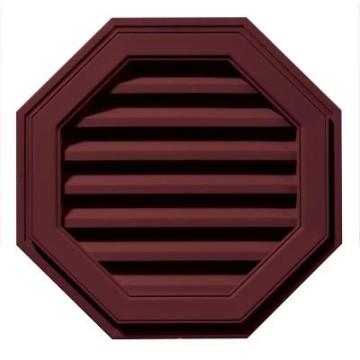 22 in. Octagon Gable Vent in Wineberry
