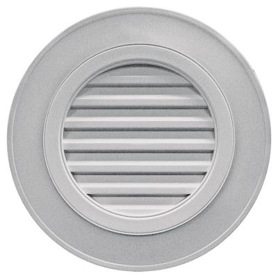 28 in. Round Gable Vent in Gray (without Keystones)
