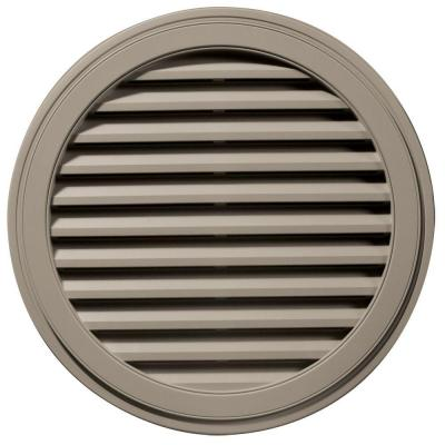 36 in. Round Gable Vent in Clay