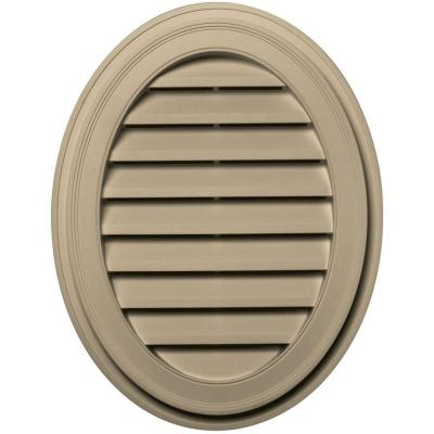 27 in. Oval Gable Vent in Light Almond