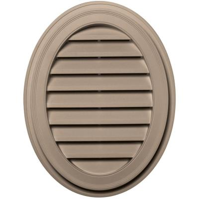 27 in. Oval Gable Vent in Wicker