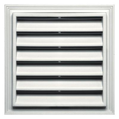 12 in. x 12 in. Square Gable Vent in White