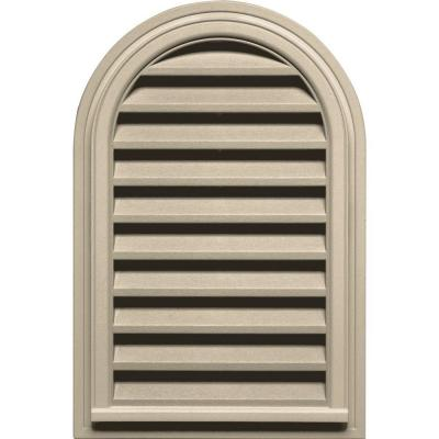 22 in. x 32 in. Round Top Gable Vent in Sandalwood