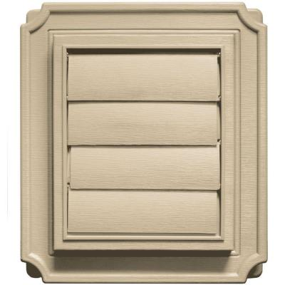 Scalloped Exhaust Siding Vent #013-Light Almond