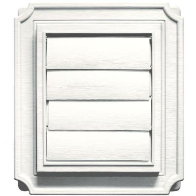 Scalloped Siding Exhaust Vent #123-White