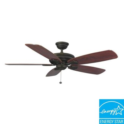 Heirloom 52 in. Outdoor Oil-Rubbed Bronze Ceiling Fan