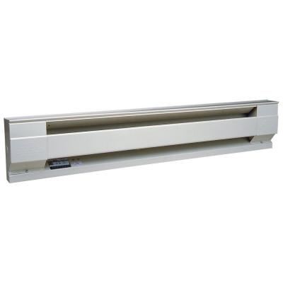 72 in. 1,500-Watt 120-Volt Electric Baseboard Heater in White