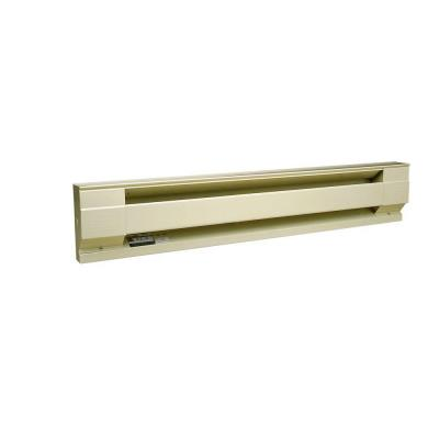96 in. 2,000/2,500-Watt 240-Volt Electric Baseboard Heater in Almond