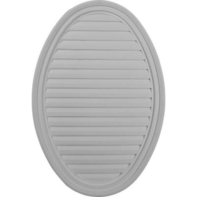 2 in. x 24-1/2 in. x 37 in. Decorative Vertical Oval Gable Louver Vent