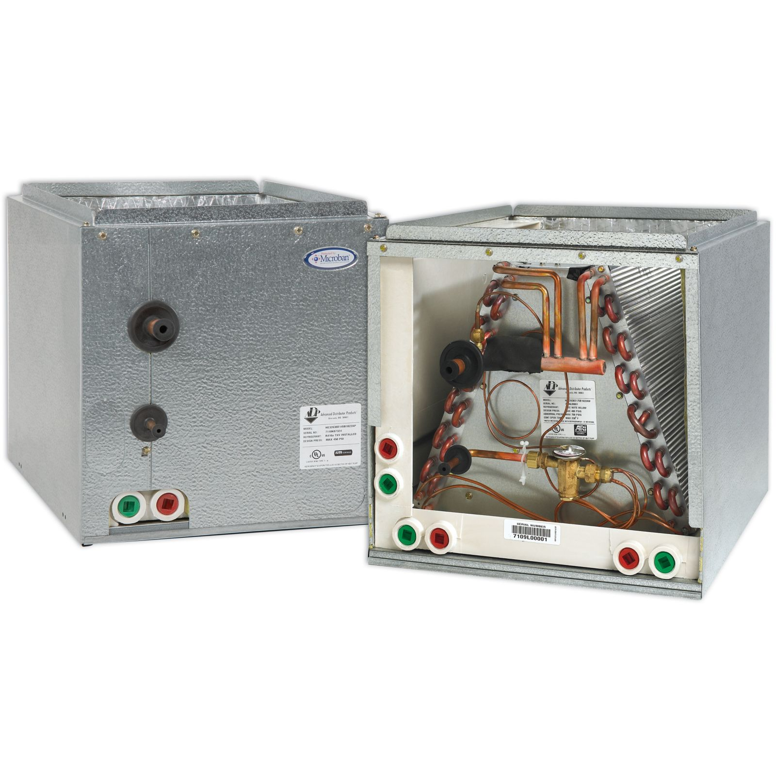 "ADP RE50660D210B2705AP - HE Series Cased Evaporator Coil 5 Ton Copper Left Hand, R410A, 21"" X 21"" X 27.5"""